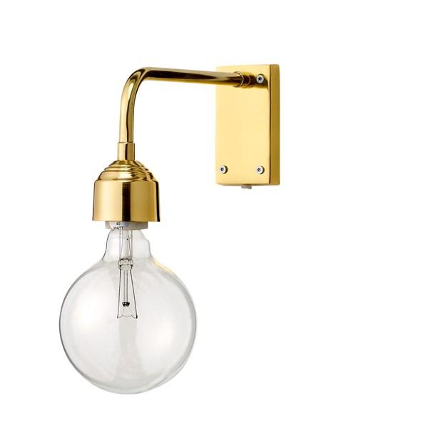 Bloomingville Vägglampa Guld Metall. Höjd13xbrödd27 cm