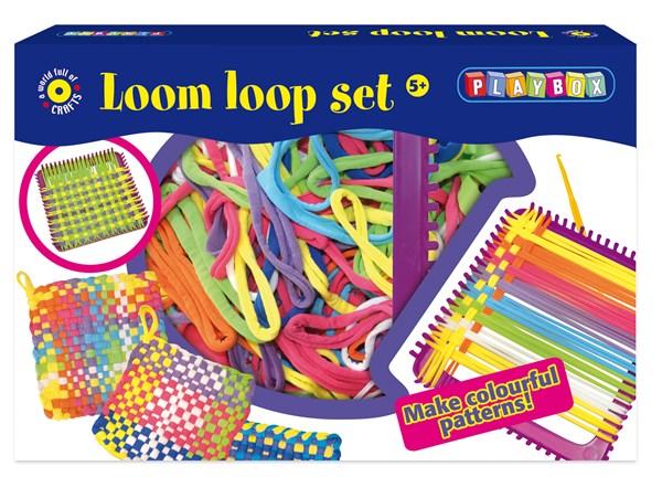 Loombands vevramme og Looms Playbox