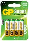Batteri Alkalisk AA 1,5 V 4 st