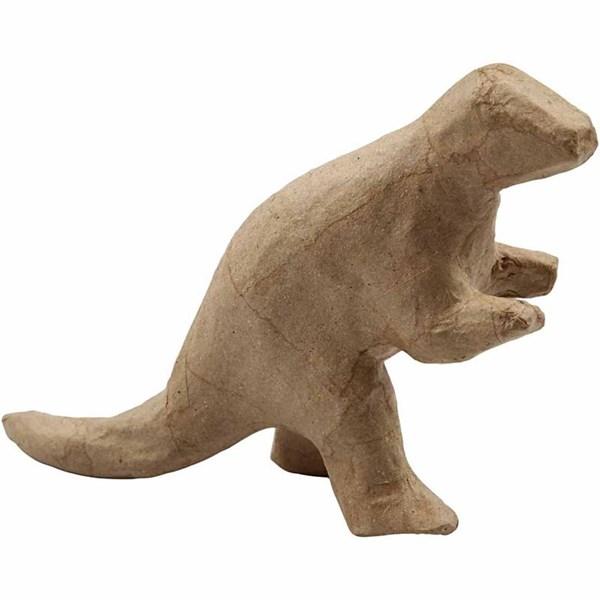 Dinosaurier av Papier-Maché 12 5x17x5 cm 1 st - papier maché