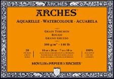 Arches grove blokker akvareller 300g 18x26 cm 20 ark limt på 4 sider