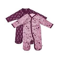 Pyjamas 2-pack, Mörklila, Pippi