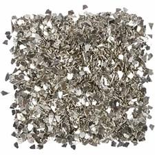 Glitter, str. 1-3 mm, 30 g, sølv
