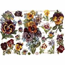 Glansbilder, ark 16,5x23,5 cm, blomster, 3ark