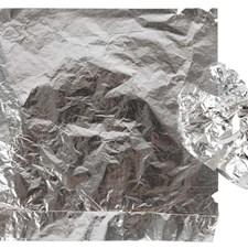 Lehtimetallijäljitelmä, arkki 16x16 cm, 25 ark, hopea