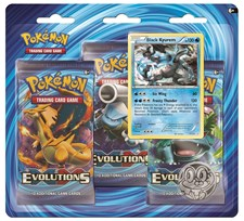 Poke Blister 3-pack, XY12 Evolutions, Black Kyurem, Pokémon
