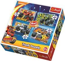 4-i-1 puslespill, Blaze og monstermaskinene, Trefl