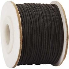 Kumilanka, paksuus 1 mm, 25 m, musta