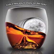 on the Rock Whiskyglas och isform
