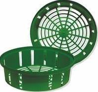 Lökkorg 25 cm ø, 3-pack, Grön