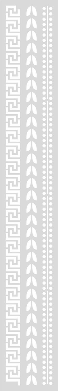 Schablon Lång 10,5x70 cm Mönster