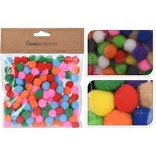 Pompoms 1,5cm, 150-pack