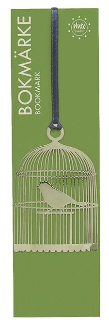Bokmärke Fågelbur