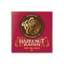 Willies Cacao Chokladkaka Peruvian Chulucanas 70% Hazelnut Raisin 50 g