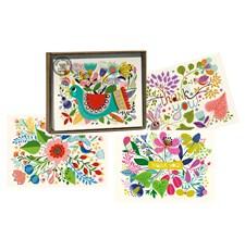 Roger la Borde Kortbox Kurbits, Blommor 8 Kort med kuvert - 4 olika Motiv