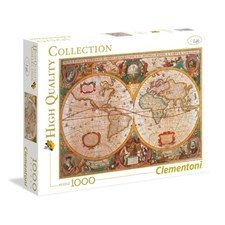Puslespill, Old Map, 1000 brikker, Clementoni HQC
