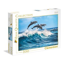 Dolphins Puslespill 500 biter Clementoni