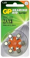 Høreapparatsbatteri ZA13 zink luft 1,4V 6-pakk