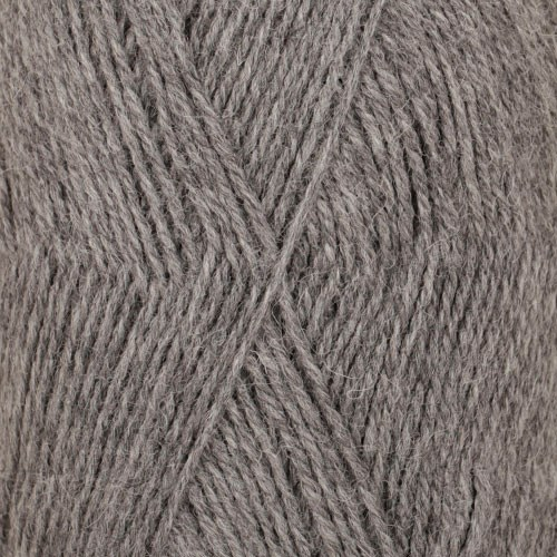 Drops Flora Mix Garn Ullmix 50g Medium Grey 04