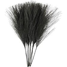 Kunstige fjær, L: 15 cm, B: 8 cm, svart, 10stk.