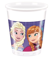 Disney Frozen Snowflakes Plastmuggar, 8 st