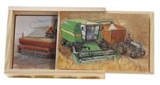 Mulle Meck jordbruksmaskiner 4x träpussel