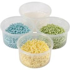 Pearl Clay®,  3x25 g,  38 g, lys blå, lys grønn, lys gul, 1sett