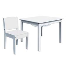 Bord-och stolset, Vitt, Room Studio