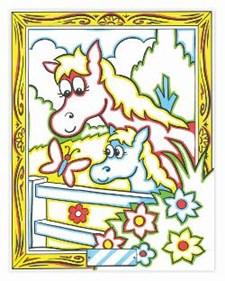 Fargelegg etter nummer – hest