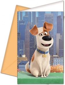 Husdjurens Hemliga Liv Inbjudningskort, 6 st