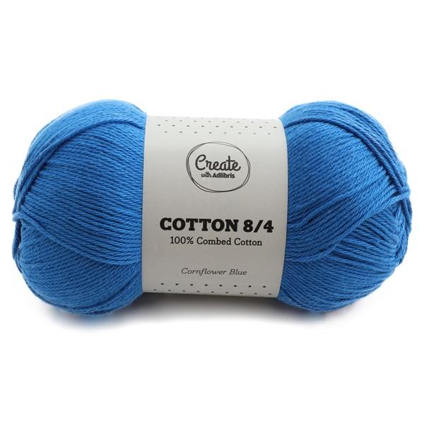 Adlibris Cotton 8/4 Garn 100g Cornflower Blue A096