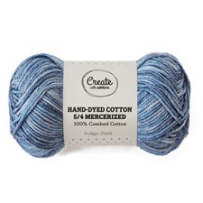 Adlibris Cotton 5/4 Hand-dyed Mercerized 50g Indigo dark A393