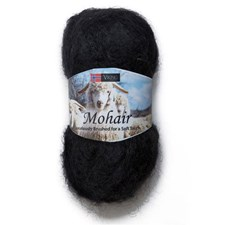 Viking of Norway Mohair Garn Mohairmix 50g Svart 303
