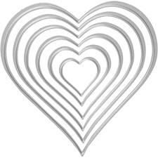 Kuvioterä, koko 3-11,5 cm, sydämet, 1kpl