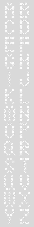 Schablon Lång 10,5x70 cm Bokstäver Korsstygn