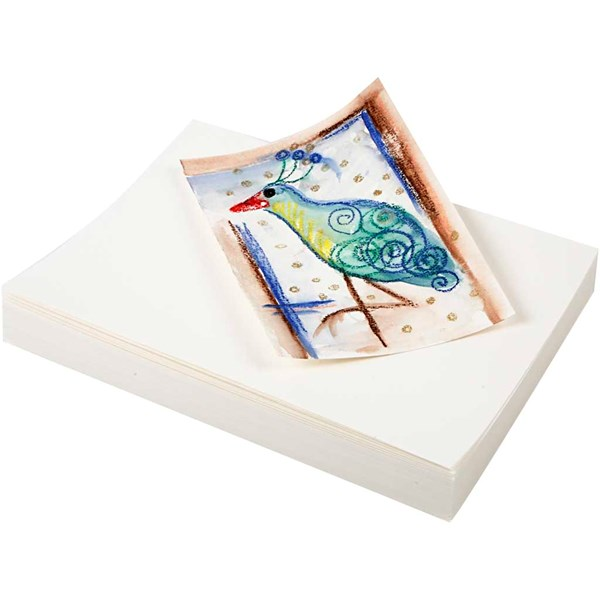 Akvarellpapper A5 200g Vit 100 Ark