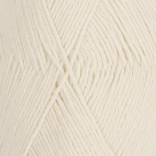 Drops Nord Uni Colour Garn Alpackamix 50g Off White 01