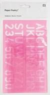 Sjabloner Abc og Nummer 25,5/ 15,5 cm til 16/ 4,5 cm