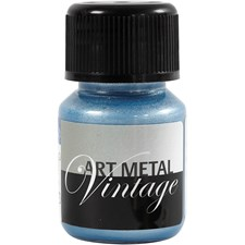 Art Metall maling, pearl blå, 30ml