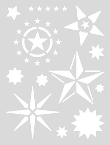 Schablon Medium 18,5x24,5 cm Stjärna