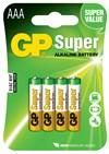 Batteri alkalisk AAA/LR03 1,5v 4-pakk