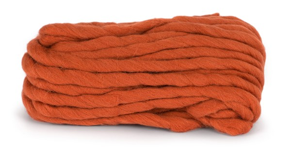 Knit At Home Chunky Wool Ullgarn 200 g Rost Orange 943