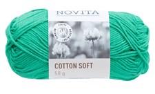 Novita Cotton Soft Bomullsgarn 50 g jade 338