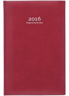 Dagbokskalender 2016 Konstläder 150x230 mm Röd