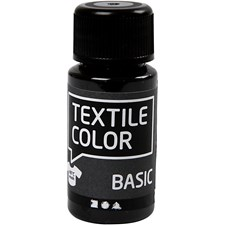 Textile Color Basic, 50 ml, musta