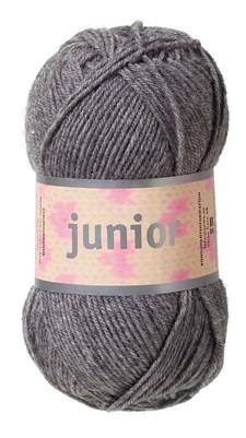 Junior Garn Akrylmix 50g Grå (67026)