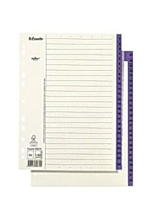 Pappregister 1-52 A4 Lila