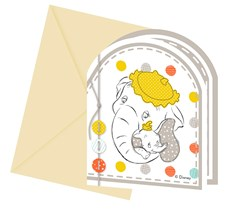 Baby Shower Inbjudningskort, 6 st