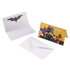 LEGO Batman inbjudningskort, 8 st