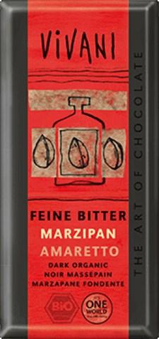 Vivani Ljus Choklad Marsipan & Amarettolikör 100 g Ekologisk